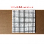 "Carrera Marble 5/8"" Squares Polished Mosaic Tiles"