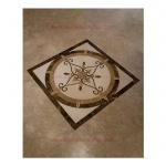"ELEGANTE, 36"" Square Stone Floor Inlay Polished"