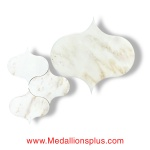 Grecian White Marble Waterjet Cut Tile - Design 33