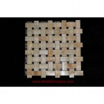 Honey Onyx Black Granite Basket Weave