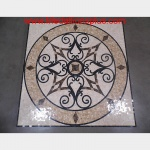 "KRISTINE II, 36"" Polished Square Mosaic Medallion"