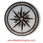 "STAR LIGHT CARRARA II, 36"" Waterjet Medallion"