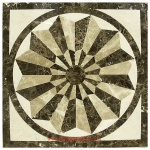 "Eden, 36"" Square Waterjet Stone Floor Inlay Polished"