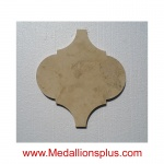 Ababesque - Beige Travertine Waterjet Tile