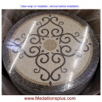 "Bordeaux, 48"" Polished Mosaic Floor Medallion"