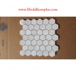 Carrera Marble Hexagon Polished Mosaic Tiles