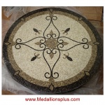 "Elegante 48"" Polished Mosaic Floor Medallion"