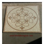 "Venice, 24"" Polished Square Mosaic Medallion"