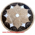 "FLORA, 36"" Waterjet Medallion"