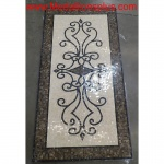 "Michaelangelo, 36"" x 72"" Polished Rectangular Mosaic Floor Medallion"