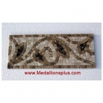 "Harper, Honed Mosaic Tile Listello 4"" x 12"""