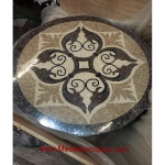 "Devine 36"" Polished Mosaic Floor Medallion"