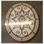 "Kristine II, 36"" x 48"" Oval Mosaic Floor Medallion, Polished"