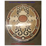 "Monte Carlo, 36"" x 48"" Oval Mosaic Floor Medallion, Polished"