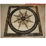 "STAR LIGHT, 24"" Square Waterjet Medallion"